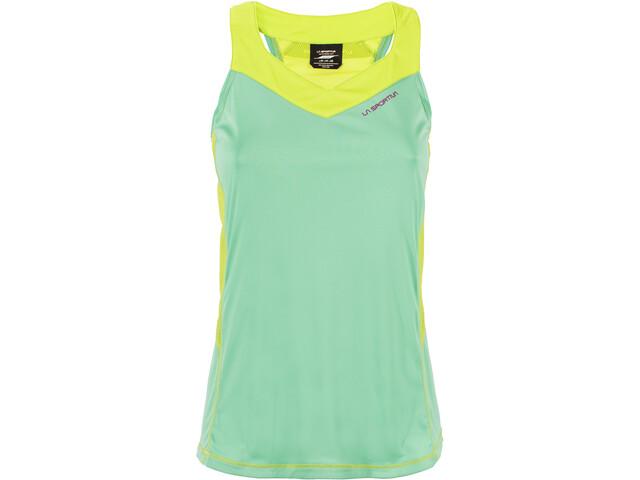 La Sportiva Joy Koszulka do biegania bez rękawów Kobiety zielony